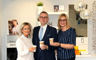 Lee Opticians celebrate the first year in Camlough